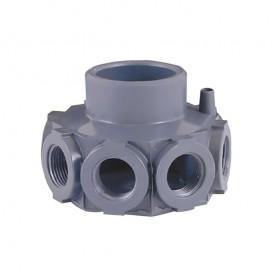 """Cabezal colector PVC para filtros para brazos de ¾"""""""