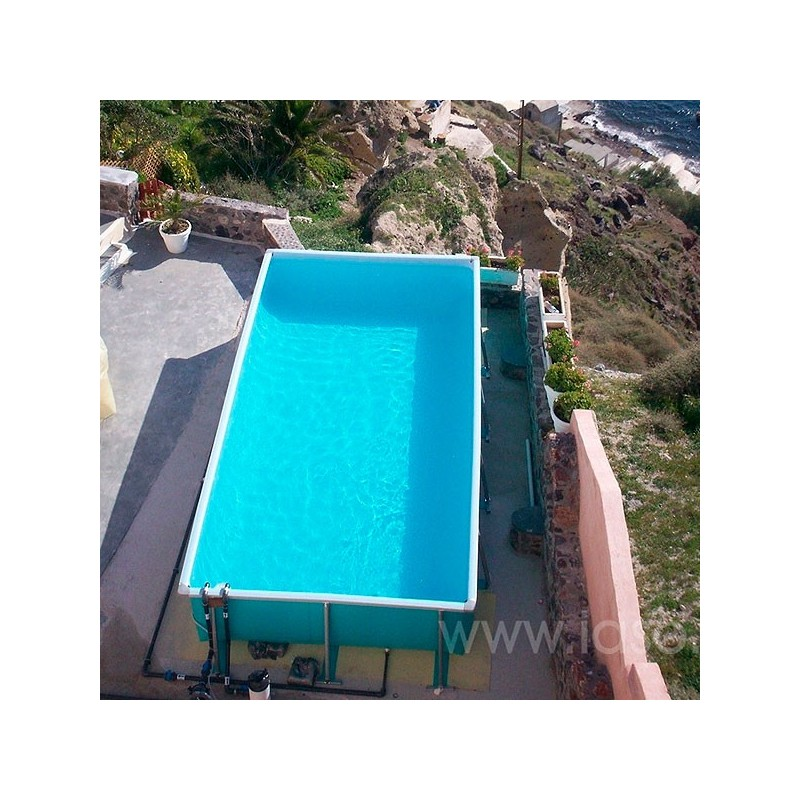 Piscina max desmontable rectangular iaso poolaria for Piscinas rectangulares desmontables con depuradora
