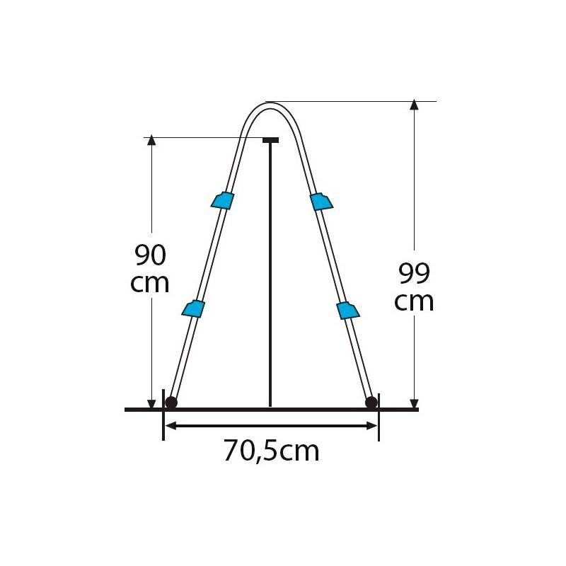 Escalera tipo tijera para piscina desmontable 98 cm gre for Piscina desmontable 2x4