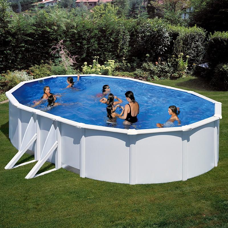 piscina gre bora bora ovalada acero chapa blanca poolaria
