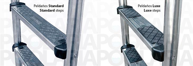 Escalera standard para piscina astralpool poolaria - Peldanos para escaleras ...