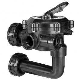 "Válvula selectora Flat Lateral 1½"" con enlaces a filtro"