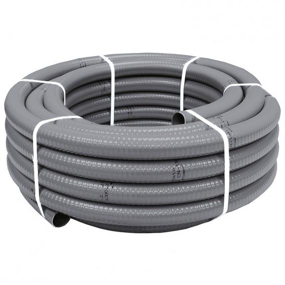 Tubería PVC flexible hidrotubo gris
