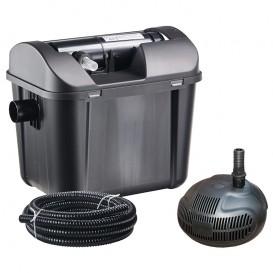 Kit filtración estanque con bomba y UV 5000 litros Heissner