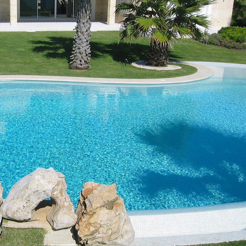 Gresite htk unicolor blanco pas poolaria for Gresite piscina bricodepot