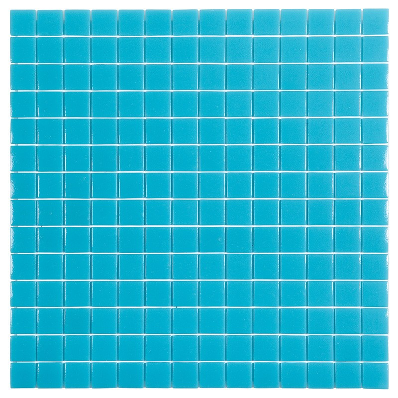 Gresite htk unicolor azul miera poolaria for Gresite piscina bricodepot