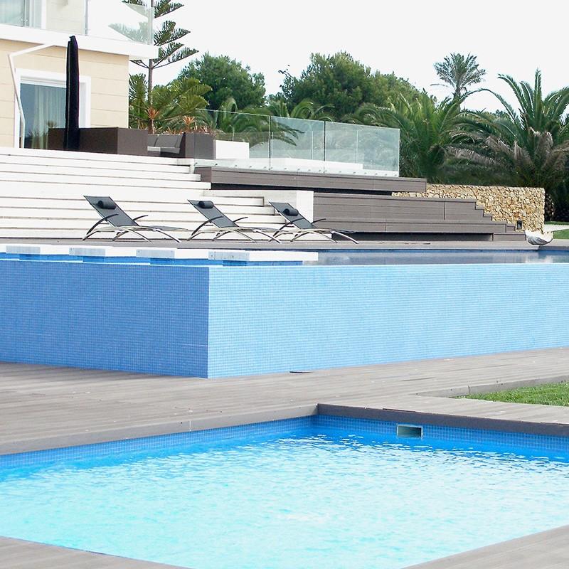 Gresite htk unicolor azul yera poolaria for Gresite piscina precio m2