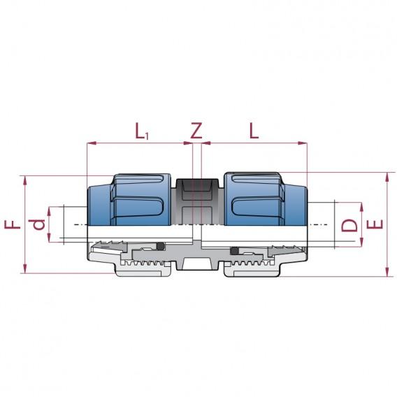 Dimensiones enlace reducido polietileno