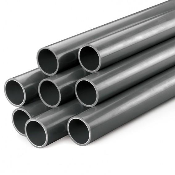 Tubo PVC presión PN10 gris rígido D40-D315