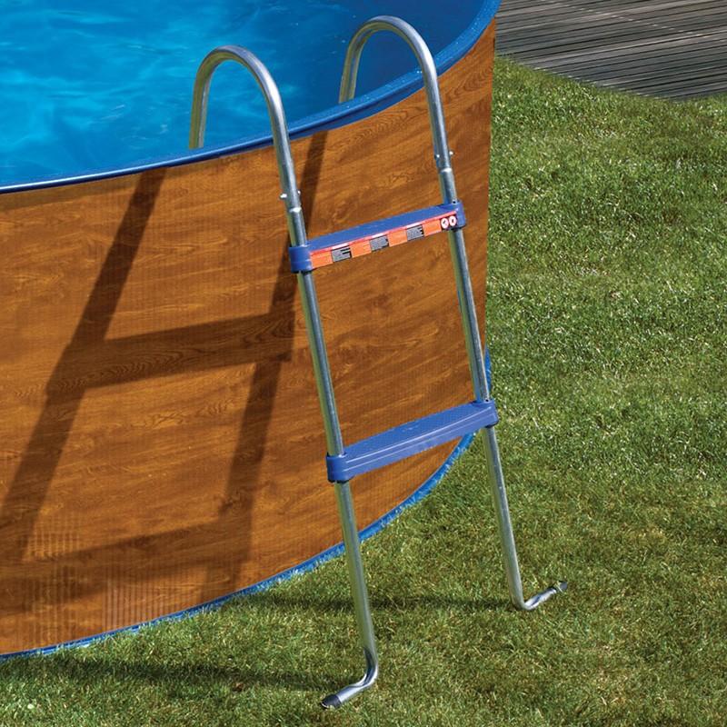 Escalera tipo tijera para piscina desmontable 98 cm gre for Escaleras para piscinas gre