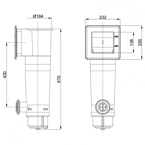 Dimensiones filtro de cartucho Gre AR125
