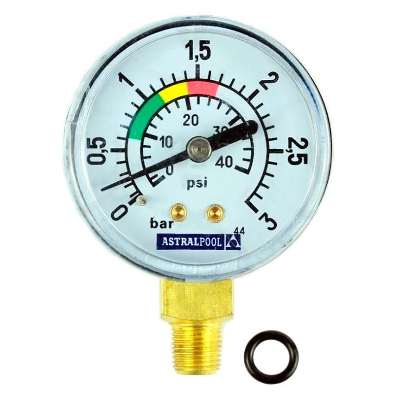 """Manómetro ⅛"""" 3 kg/cm² filtro Millennium AstralPool"""