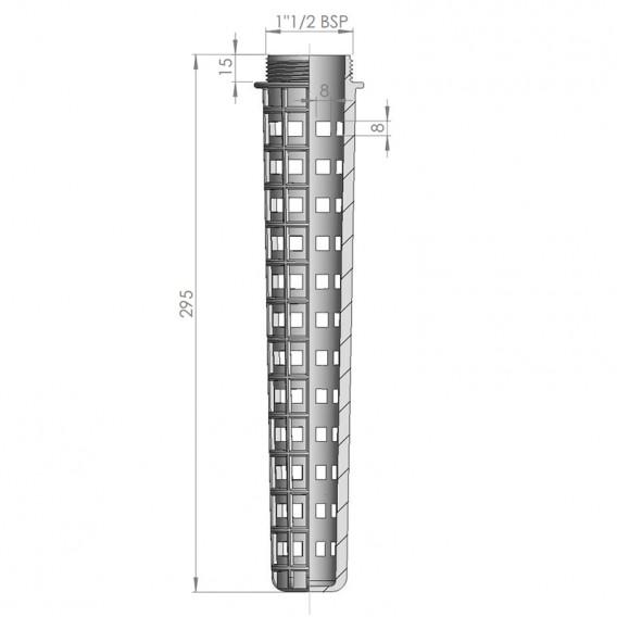 Dimensiones tubo de drenaje para válvula hidrostática AstralPool