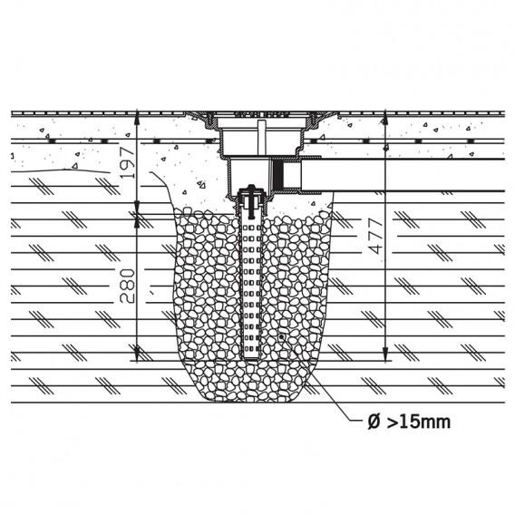 Esquema de instalación válvula hidrostática y sumidero