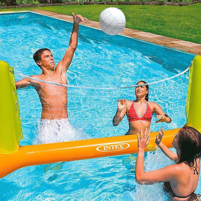 Red de voleibol hinchable para piscina intex 56508np for Hinchables de agua para piscinas