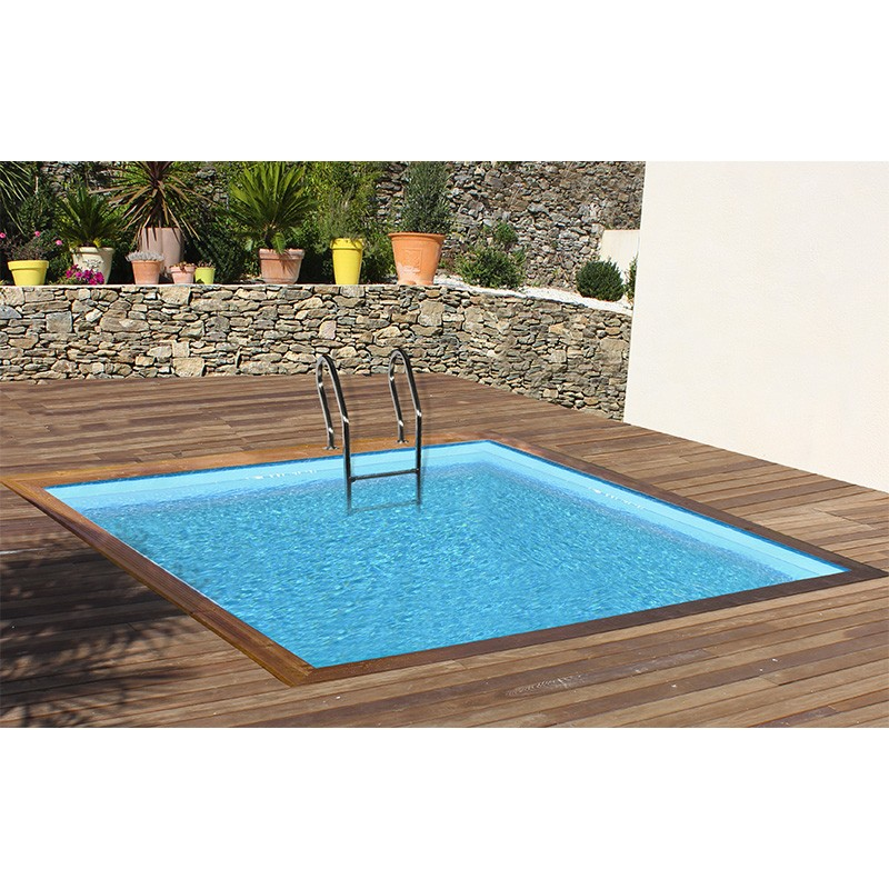 piscina de madera gre sunbay carra cuadrada 300x300x119. Black Bedroom Furniture Sets. Home Design Ideas