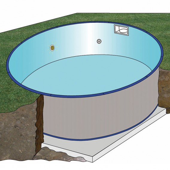 Esquema instalación piscina Gre Moorea circular