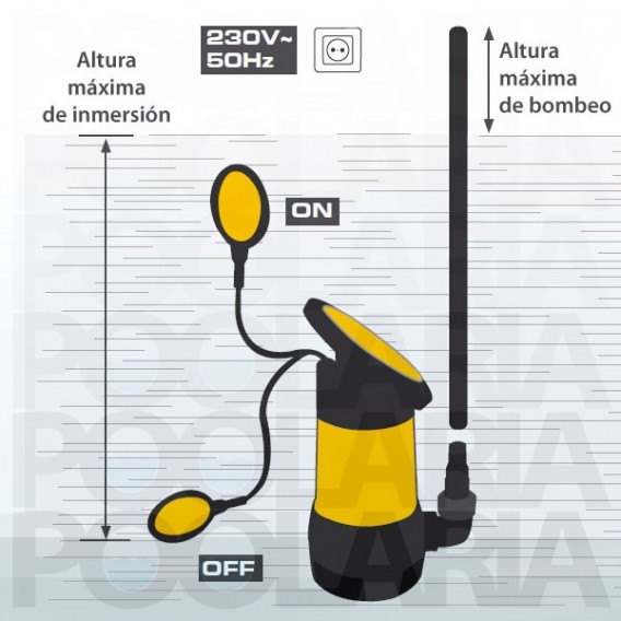Bomba sumergible 550W aguas sucias Powerplus POWXG9513