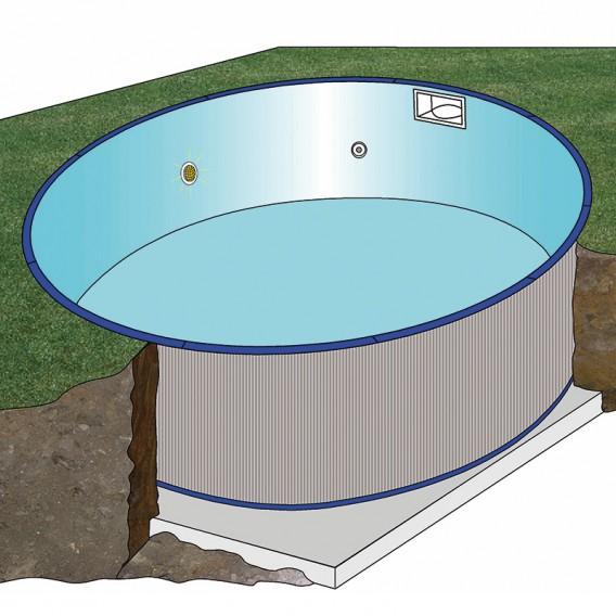 Esquema instalación piscina Gre Madagascar circular
