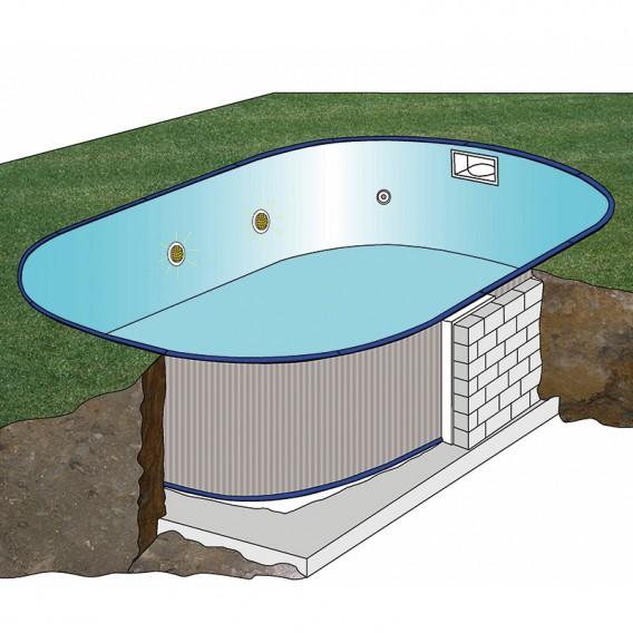 Esquema instalación piscina Gre Sumatra ovalada