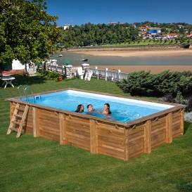 Piscina de madera Gre Evora rectangular 788029E