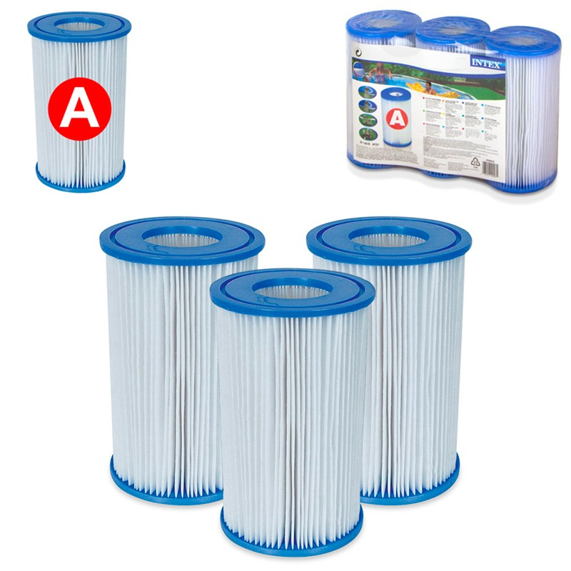 Pack 6 cartuchos intex tipo a depuradora piscina poolaria for Depuradora para piscina hinchable
