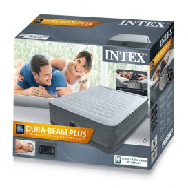 Cama hinchable Intex Comfort-Plush Elevated Dura Beam doble 64414