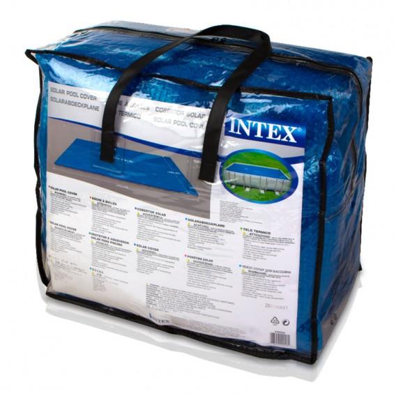 Cobertor solar piscina rectangular intex poolaria for Albercas portatiles rectangulares