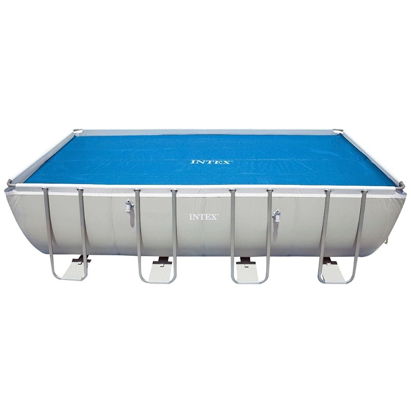 Cobertor solar piscina rectangular intex poolaria for Piscina rectangular
