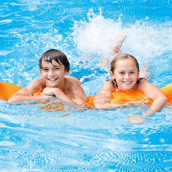 Isla flotante hinchable con tobogán Intex piscina 58294EU