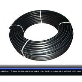 Tubería PE-100 agua potable PN16 rollo D32-D90