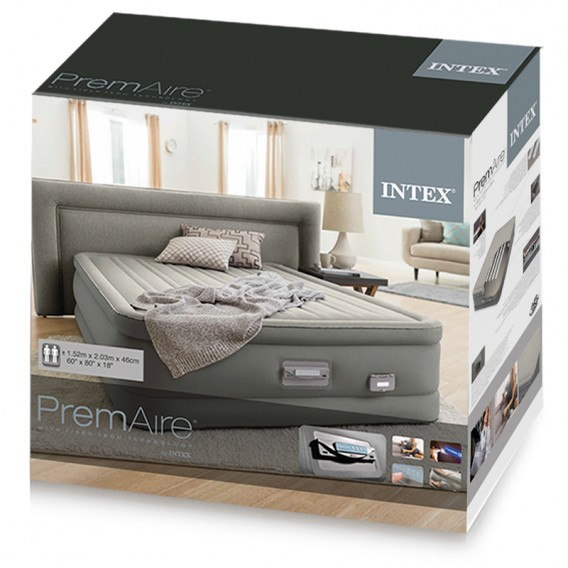Cama hinchable Intex PremAire Dream Support doble 64770