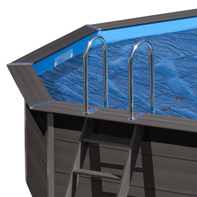 Cubierta isot rmica piscina composite gre ovalada poolaria for Piscina ovalada hinchable