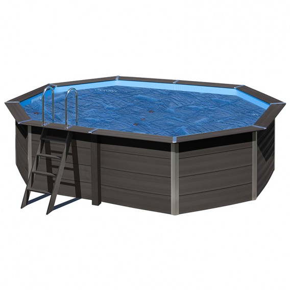 Cubierta isot rmica piscina composite gre ovalada poolaria for Piscina composite