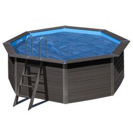 Cubierta isotérmica piscina composite Gre redonda