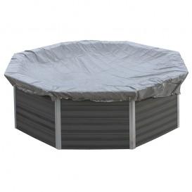 Cubierta de invierno piscina composite Gre redonda
