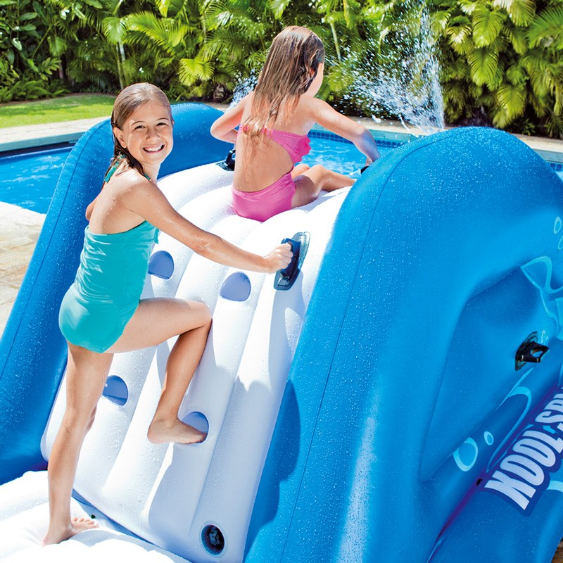 Tobog n hinchable intex water slide 58849np poolaria - Toboganes de piscina ...