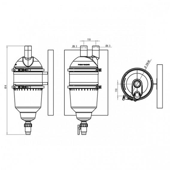 Kit para instalación en pared filtro Hydrospin