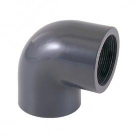 Codo 90º PVC roscar