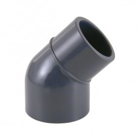 Codo 45º reducido PVC encolar