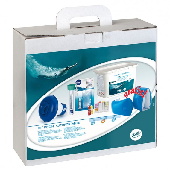Kit tratamiento para piscina Gre de 5 a 15 m³