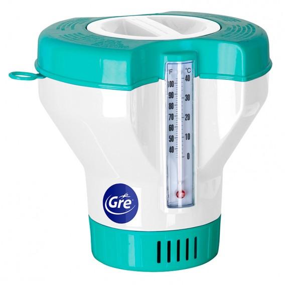 Dosificador de cloro flotante con termómetro Gre 40070