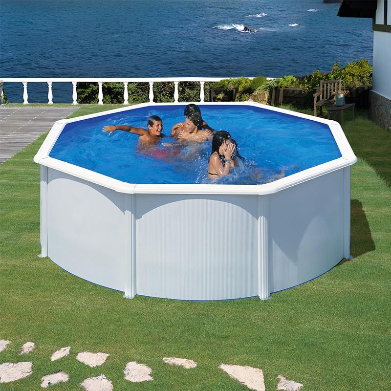 piscina gre wet circular acero chapa blanca depuradora