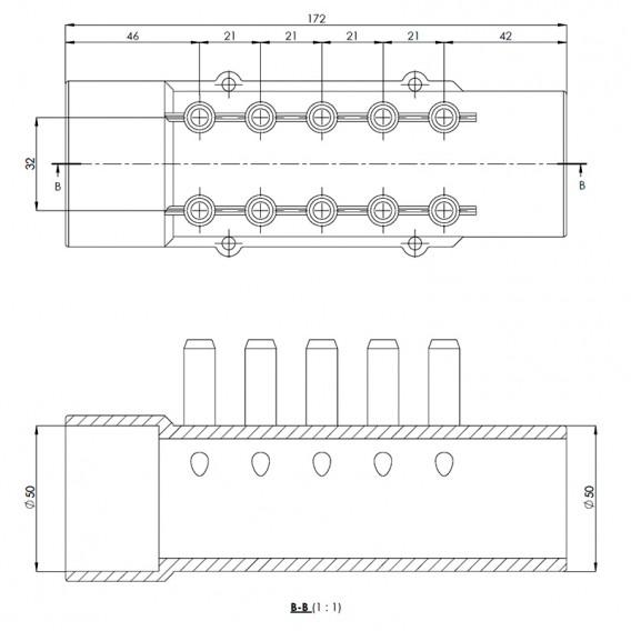 Dimensiones distribuidor de aire spa 10 salidas
