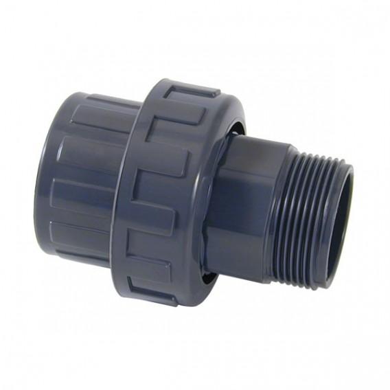 Enlace m/h 3 piezas PVC roscar