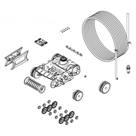 Bloque de tracción con motor y cable Zodiac TornaX R0767400