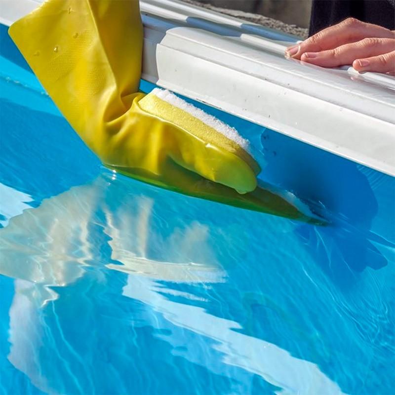 Guante con esponja para l nea de flotaci n gre gfl5 poolaria - Salfuman para limpiar piscinas ...