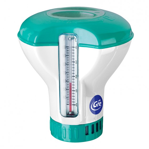 Dosificador combi con termómetro pastillas 20g Gre DCT20