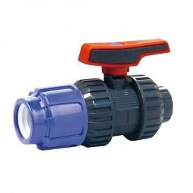 Válvula de bola [STD] PVC-U PE x encolar