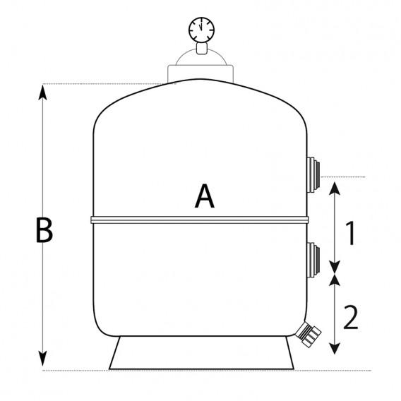 Dimensiones filtro Rubí QP
